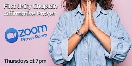 First unity Chaplain Affirmative Prayer tickets