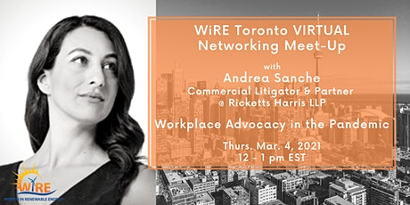 Virtual Networking Meet-Up with WiRE TO: Workplace Advocacy in the Pandemic tickets