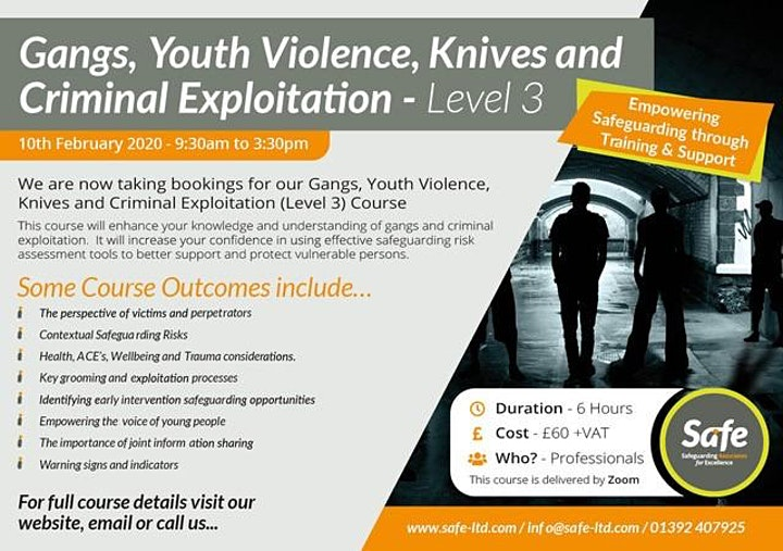 Gangs, Youth Violence, Knives and Criminal Exploitation Course image