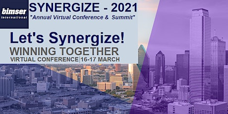 SYNERGIZE-2021 -Virtual Conference for Digital Transformation & Remote Work tickets