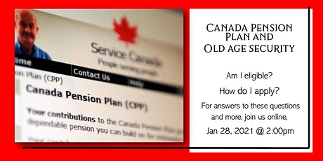 Canada Pension Plan & Old Age Security: Service Canada Presentation tickets