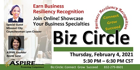 Business  Resiliency Recognition for Your Business tickets