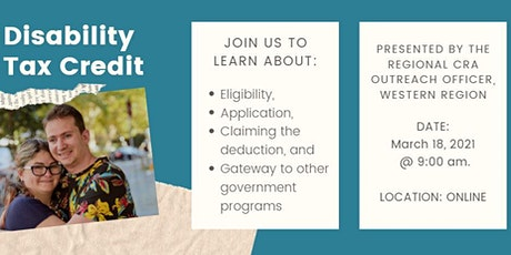 Disability Tax Credit: CRA Presentation tickets