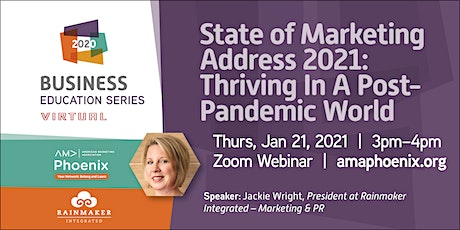 Marketing 2021: Thriving In A Post-Pandemic World tickets