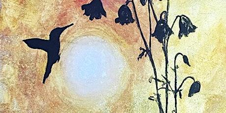 HUMMINGBIRD ON GOLD LEAF CREATE | PAINT | ONLINE tickets