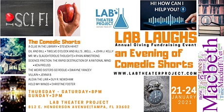 LAB LAUGHS an Evening of Comedic Shorts tickets