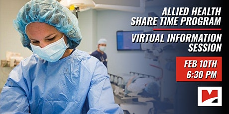 Allied Health Share Time Program Virtual Information Session tickets