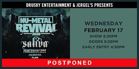 POSTPONED - Nu-Metal Revival featuring Saliva & Powerman 5000 tickets