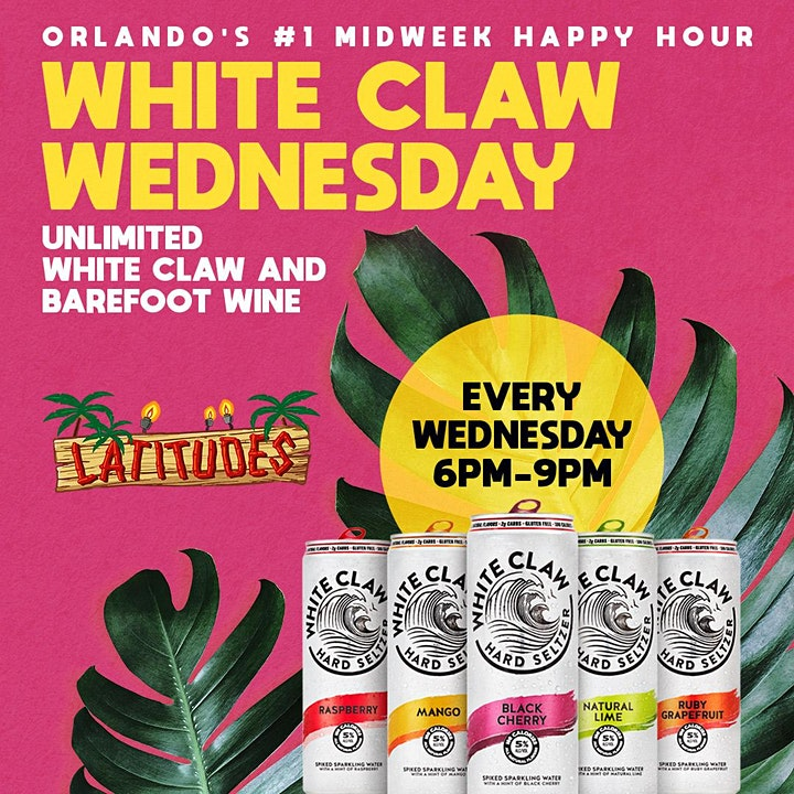 White Claw Wednesdays  | Unlimited White Claw | Latitudes Downtown Orlando image