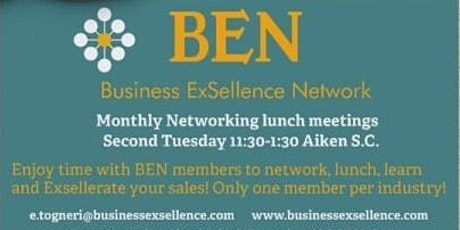 Business ExSellence Network (BEN) Aiken SC Monthly Lunch tickets