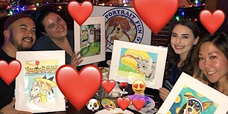 Paint and Sip Pet Portrait Fun- Valentine's Day -Barking Dog NEW YORK tickets