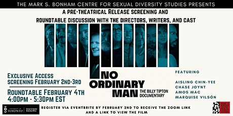 No Ordinary Man: The Billy Tipton Doc Screening and Roundtable Discussion tickets
