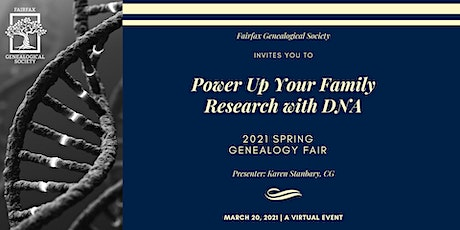FxGS Virtual Spring Fair: Power Up Your Family Research with DNA tickets