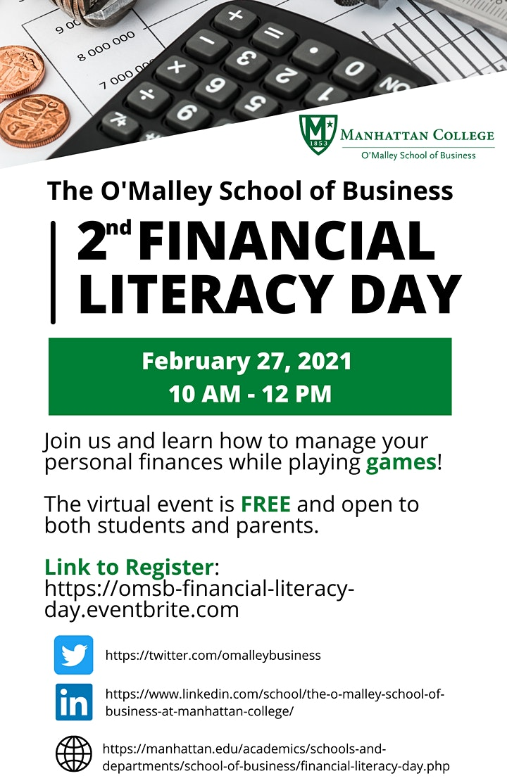 Manhattan College's O'Malley School of Business Financial Literacy Day image