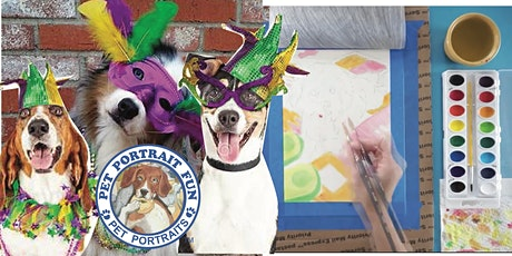 Paint and Sip Pet Portrait Fun- Mardi Gras Party -Barking Dog NEW YORK tickets