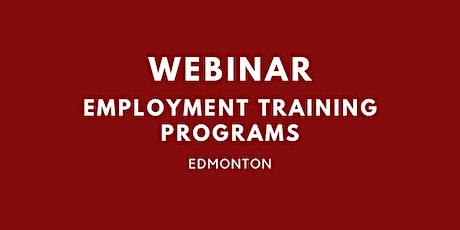 Webinar: Employment training programs in Edmonton tickets