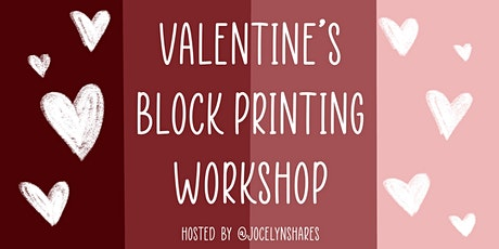 Valentine's Block Printing Workshop tickets