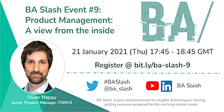 BA/ #9: Product Management - A view from the inside tickets