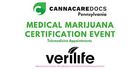 PA Medical Marijuana Certification Events with Verilife tickets