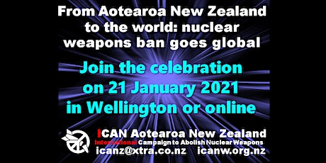 Nuclear ban treaty celebration,  in Wellington and online tickets