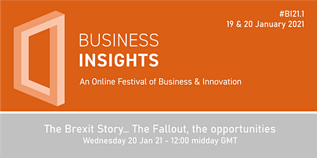 The Brexit Story… The Fallout, the opportunities - LIVEstream tickets
