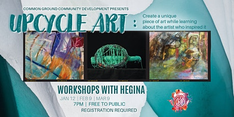 Upcycle Art Workshop with Hegina tickets