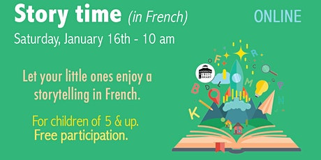 Story time in French - Kids 5 & up - online tickets