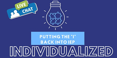 """Putting the """"I"""" Back into IEP- Individualized tickets"""