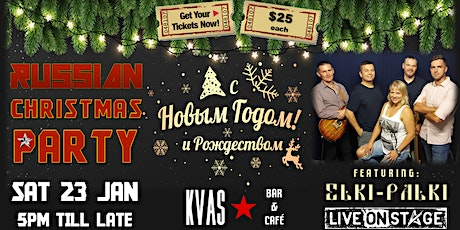 Russian Christmas Party at Kvas Bar tickets