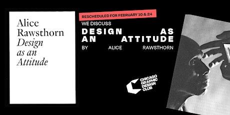 Design as an Attitude by Alice Rawsthorn | Book Discussion biglietti