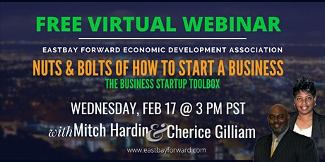 FREE WEBINAR  - The Business Startup Toolbox tickets