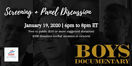 BOYS Documentary Virtual Screening + Panel Discussion tickets