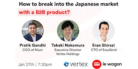 How to break into the Japanese market with a B2B product? tickets