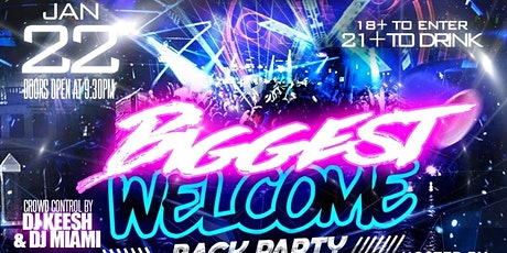 Biggest College Welcome Back Party at Elan (Jan. 22nd) tickets