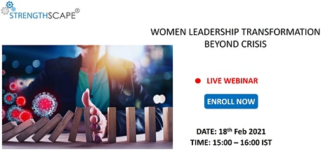 [Free Webinar] Women Leadership: Transformation beyond Crisis billets