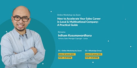 How to Accelerate Your Sales Career in Local & Multinational Company tickets