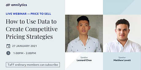 TaFF x Omnilytics: How to Use Data to Create Competitive Pricing Strategies tickets