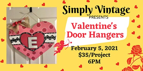 Valentine's Heart Decorative  Door Hanger Make & Take tickets