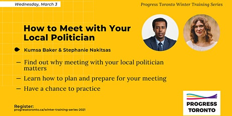 Winter Training Series: How to Meet with Your Local Politician tickets