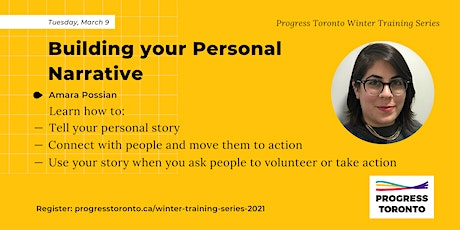 Winter Training Series: Building Your Personal Narrative tickets