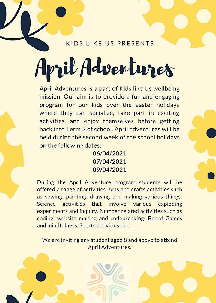 April Adventures 2021 image