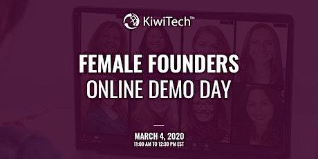 KiwiTech's Online Demo Day - Female Founders' tickets