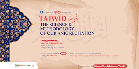 Tajwid: The Science and Methodology of Qur'anic Recitation tickets