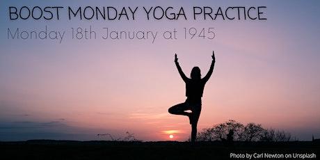 Boost Monday Yoga Practice tickets