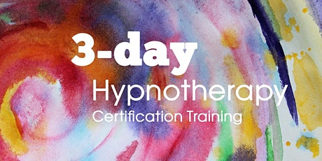 Hypnosis: 3 day Certification course (online) tickets