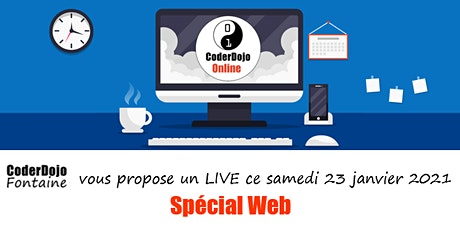 CoderDojo Fontaine - ONLINE - Spécial Web - 23/01/2021 billets