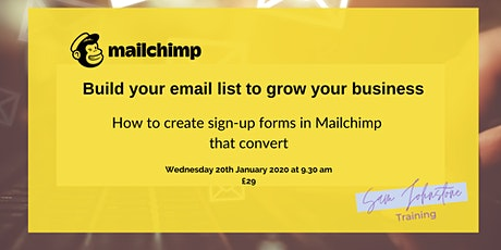 How to Create Sign-up Forms in Mailchimp that Convert tickets