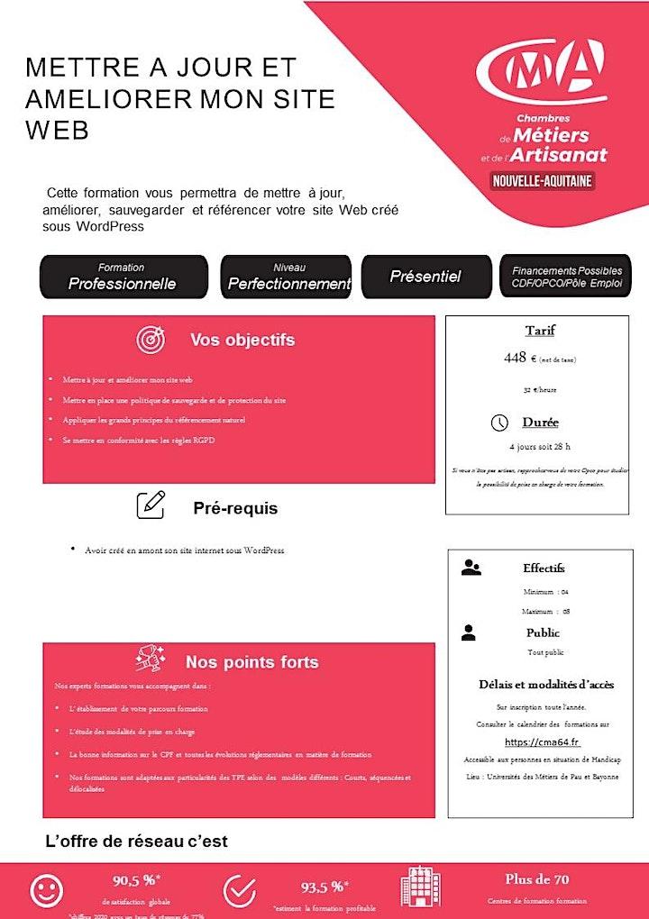Image pour Stage METTRE A JOUR ET AMÉLIORER MON SITE WEB  (2 jours)