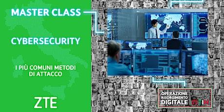 Cybersecurity - I piu comuni metodi di attacco biglietti