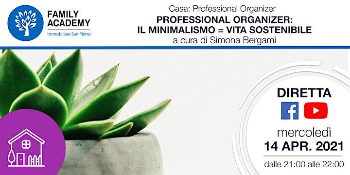 Immagine PROFESSIONAL ORGANIZER: IL MINIMALISMO = VITA SOSTENIBILE